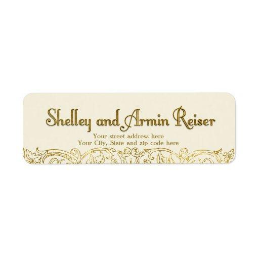 Custom address label Shelley