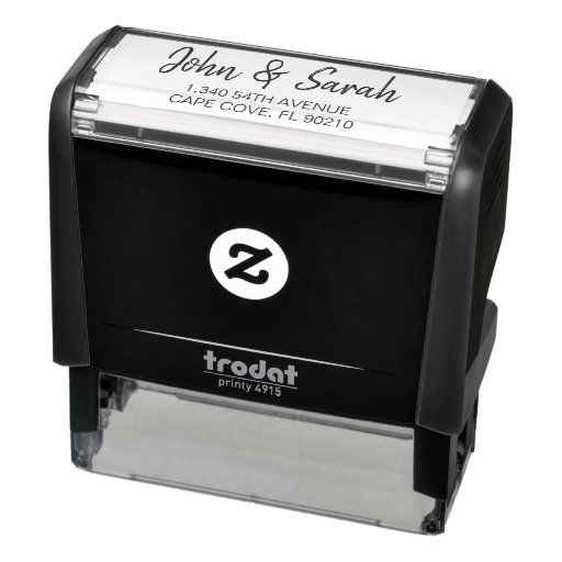 Custom Address Stamp, Self Ink Return Address Self-inking Stamp
