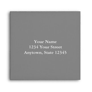 Custom Addressed Envelope with Gray Interior Envelope