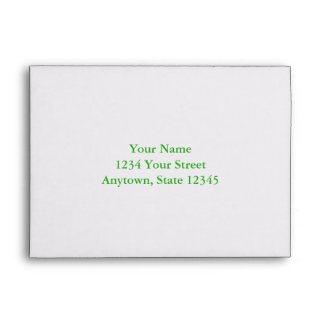 Custom Addressed Envelope with Green Interior