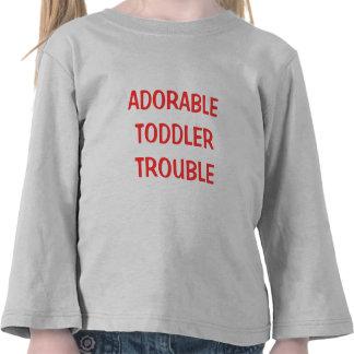 Custom Adorable Toddler Trouble Tee Shirt