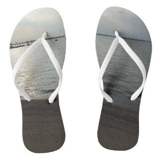 Custom Adult, Slim Straps Beach and Ocean Flip Flops