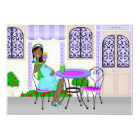 African american pregnant mom gifts on zazzle custom african american baby shower invitations negle Choice Image