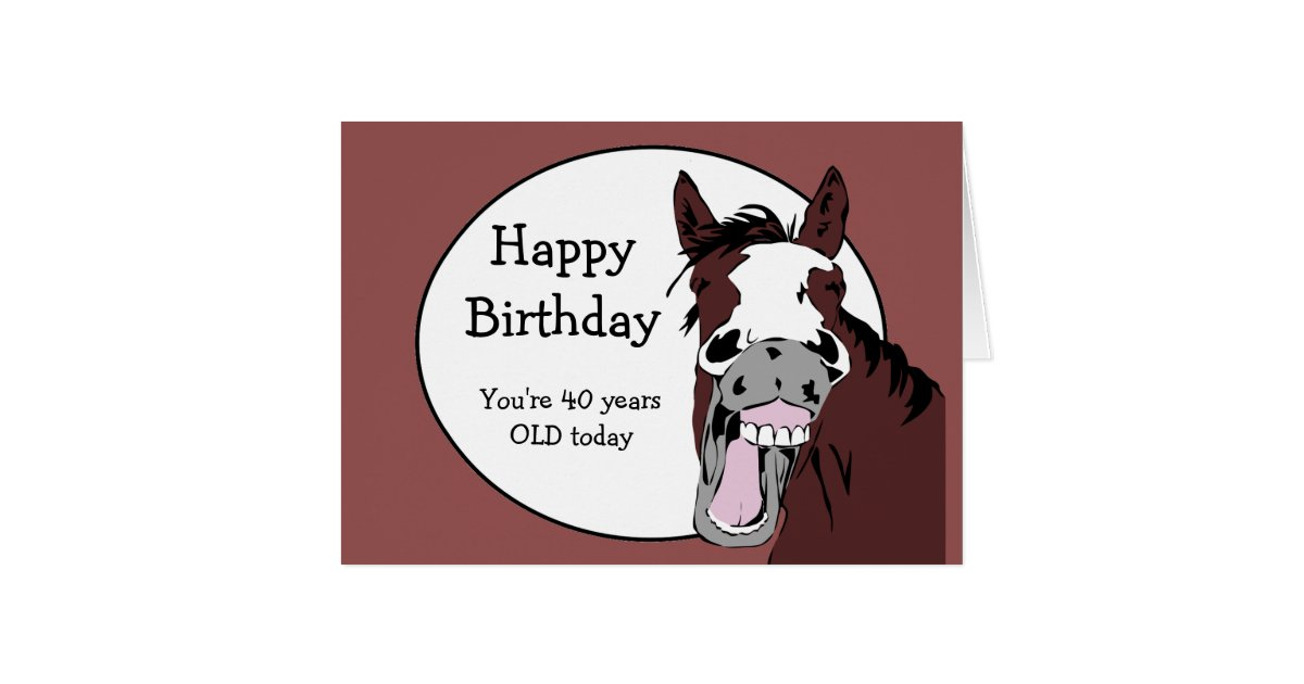 Funny Horse Birthday Cards - Greeting & Photo Cards | Zazzle