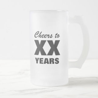 Custom age beer mug for men's Birthday party