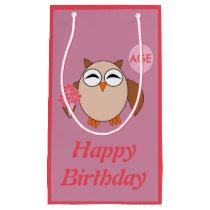 Custom Age Birthday Owl Gift Bag