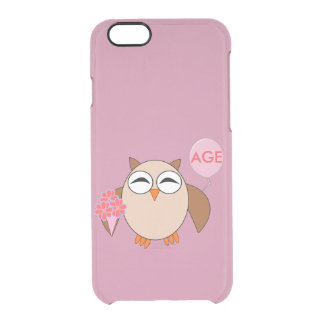 Custom Age Birthday Owl iPhone Case