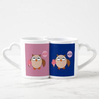 Custom Age Birthday Owl Lovers Mugs