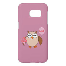 Custom Age Birthday Owl Samsung Case