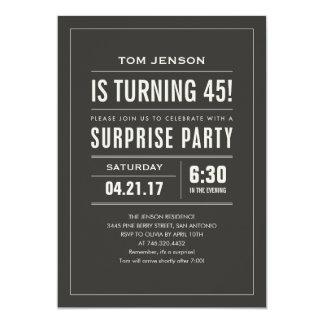 Custom Age & Color Surprise Birthday Invitations