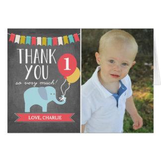 Custom Age Elephant | Birthday Thank You Card