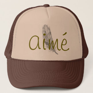 Custom aimé trucker hat