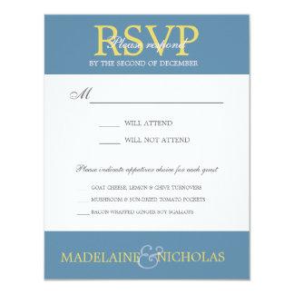 Custom air force modern wedding RSVP 4.25x5.5 Paper Invitation Card