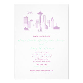 CUSTOM Alexa & Jerry Seattle Invitation