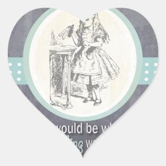 Custom Alice in Wonderland Gifts Heart Stickers