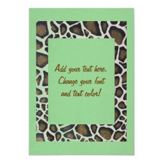 Custom All Occasion Pastel Green and Leopard Party Card