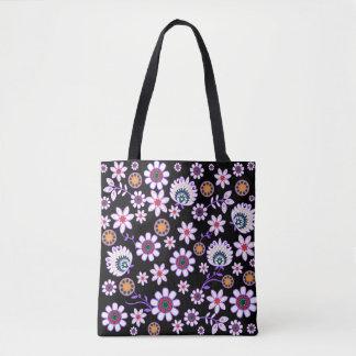 Custom All-Over-Print Tote Bag - flower folk