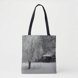 Custom All-Over-Print Tote Bag Winter silence