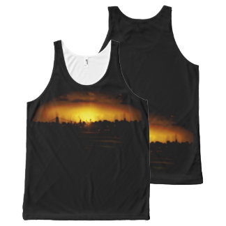 Custom All-Over Printed Unisex Tank INDCTYBLCK