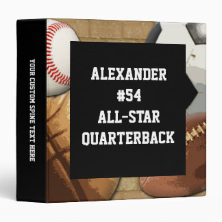 Custom All-Star Sports Athlete School Notebook Binder