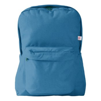 Custom American Apparel™ Backpack  Royal Blue Backpack by CREATIVEBRANDS at Zazzle