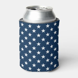 Custom American flag 4th of July party can coolers