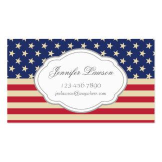 Custom American Flag Business Card Template