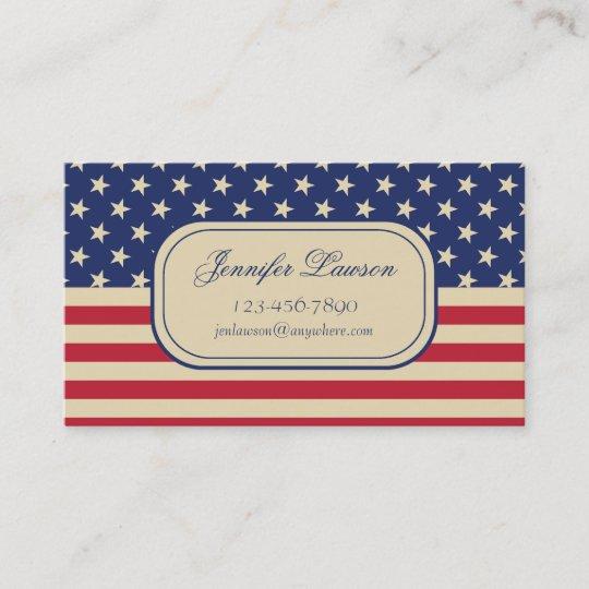 Custom american flag business card template zazzle custom american flag business card template colourmoves