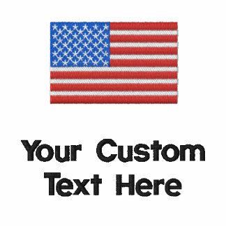 Custom American Flag Embroidered Golf Shirt Polo