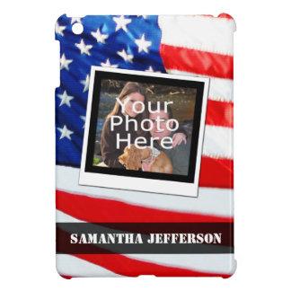 Custom American Flag Patriotic Photo iPad Case
