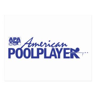 Custom American Pool Player - Blue Postcard