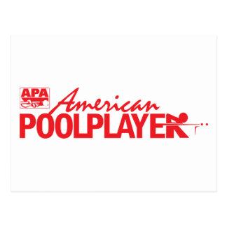 Custom American Pool Player - Red Postcard