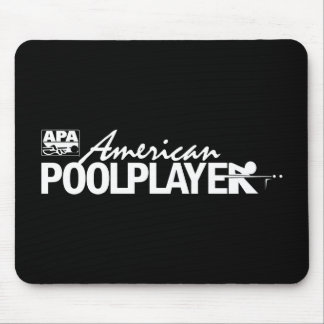 Custom American Pool Player - White Mouse Pad