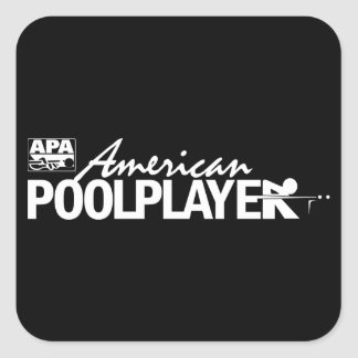 Custom American Pool Player - White Square Sticker