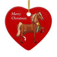 Custom American Saddlebred Christmas Ornament