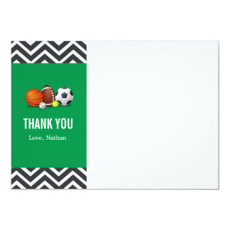Custom an all-star sport birthday thank you card