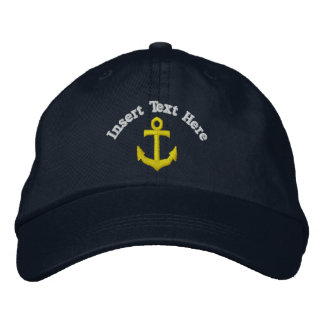 Custom Anchor Embroidered Hat
