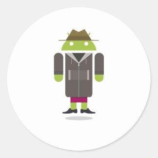 Custom Android Round Sticker
