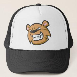 Custom Angry Bear Cartoon Logo Trucker Hat