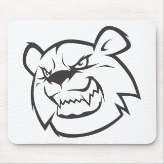Custom Angry Bear Outline Logo Mouse Pad