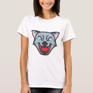Custom Angry Wolf Cartoon T-Shirt