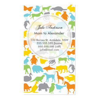Custom animal mommy card Double-Sided standard business cards (Pack of 100)
