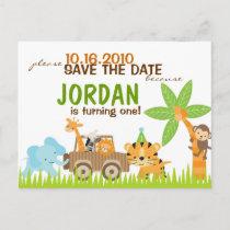 Custom Animal Safari Save The Date Announcement Postcard