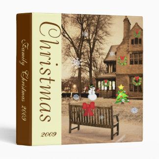 Custom Animated Christmas Manor Photo Binder