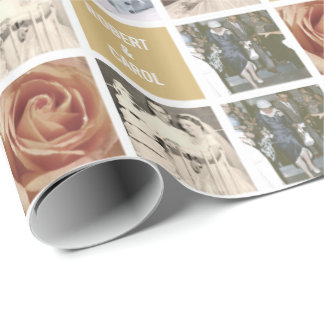 Custom Anniversary 51-Photo Collage Gift Wrapping Paper
