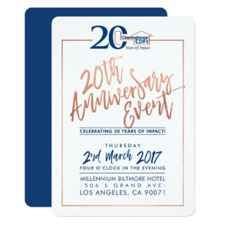 CUSTOM ANNIVERSARY PARTY INVITE corporate navy 2