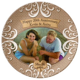 CUSTOM Anniversary Plate CALL Linda 239-949-9090 Porcelain Plate