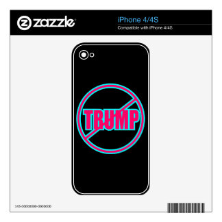 Custom Anti Trump No Trump Democratic Skin For iPhone 4