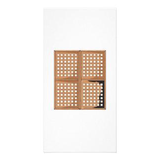 Custom Antique Capiz Shell Window Panels Cards Pin Custom Photo Card