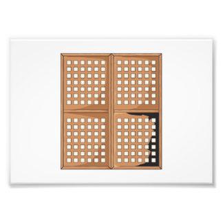 Custom Antique Capiz Shell Window Panels Cards Pin Photo Print